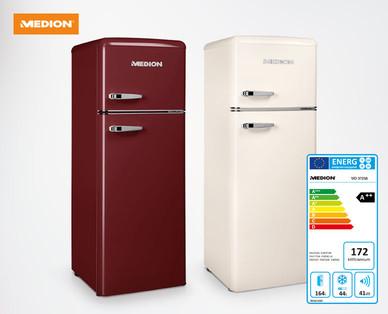 Retro Kühlschrank Kaufen : Hofer medion retro kühl und gefrierkombination md im