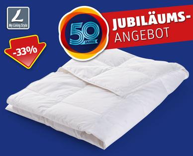 Hofer: My Living Style Sommer-Daunendecke als 50 Jahre Jubiläums-Angebot ab 11.6.2018