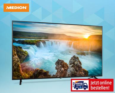 Hofer 19.6.2019: Medion Life X18175 75-Zoll Smart-TV Fernseher im Angebot
