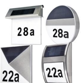 Solar-Hausnummer mit LED-Beleuchtung 2019
