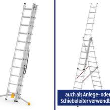 Aldi + Hofer 5.3.2020: Workzone Alu-Kombileiter 3-teilig im Angebot