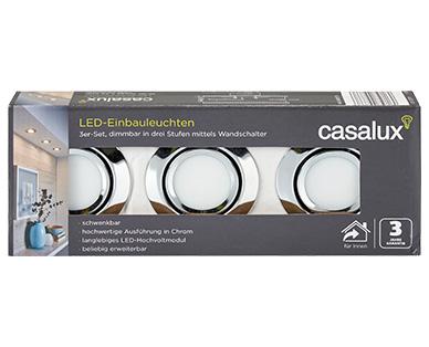 Casalux LED-Einbauleuchten 3er-Set