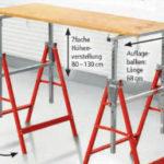 Kraft Werkzeuge Arbeits-Unterstellbock im Angebot bei Norma 18.3.2020 - KW 12