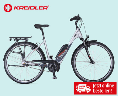 kreidler e bike mit bosch mittelmotor hofer angebot ab 13. Black Bedroom Furniture Sets. Home Design Ideas