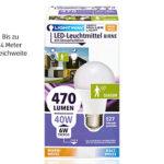 Lightway LED-Leuchtmittel mit Sensorfunktion im Angebot bei Aldi Süd 1.10.2018 - KW 40
