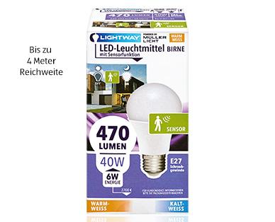 lightway led leuchtmittel mit sensorfunktion aldi s d. Black Bedroom Furniture Sets. Home Design Ideas