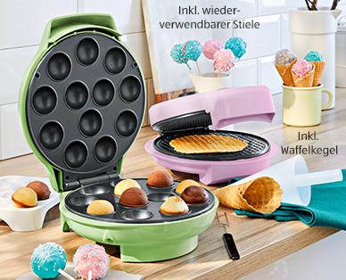Ambiano Cake Pop- und Eishörnchen-Waffel-Maker