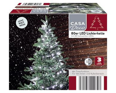 Aldi Süd | 80er LED-Lichterkette von Casa Deco im Angebot