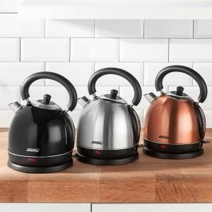 PowerTec Kitchen Retro-Edelstahl-Wasserkocher im Norma Angebot ab 19.8.2019