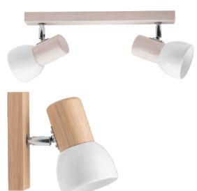 LightZone Holz Wand- und Deckenleuchte