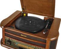 Roadstar Retro-Stereo-Anlage mit Plattenspieler