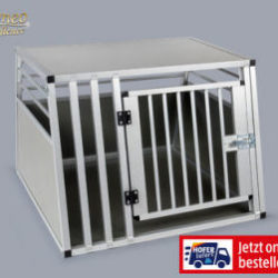 Hofer 7.1.2018: Romeo Excellence Hundetransportbox aus Aluminium im Angebot