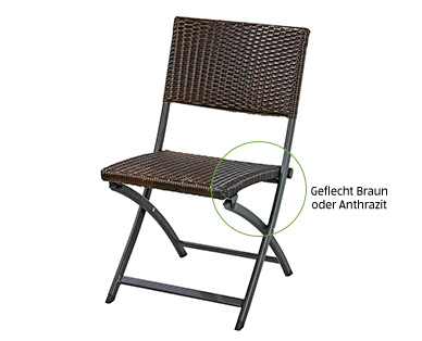Gardenline Geflecht-Klappstuhl und Geflecht-Klapphocker im Aldi Süd Angebot ab 23.5.2019
