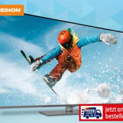 Hofer 13.12.2019: Medion Life S16500 Slim Ultra HD Smart-TV Fernseher im Angebot