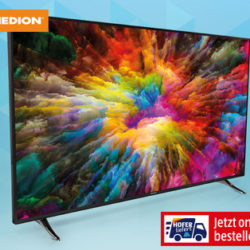 Hofer 13.12.2019: Medion Life X16508 65-Zoll Ultra-HD Smart-TV im Angebot