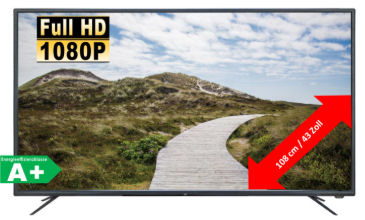 JTC Atlantis 4.3N 43-Zoll Full-HD Fernseher: Real Angebot ab 18.2.2019