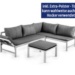Hofer 21.3.2019: Gardenline Alu-Lounge-Set 3-teilig im Angebot