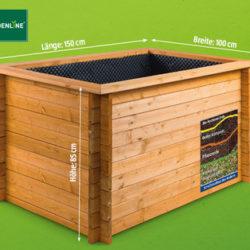 Gardenline Hochbeet aus Holz: Hofer Angebot ab 4.4.2019 - KW 14