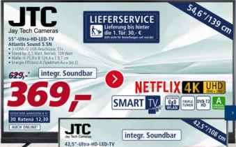 JTC Atlantis Sound 5.5N 55-Zoll Ultra-HD Fernseher: Real Angebot ab 18.3.2019 - KW 12