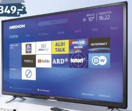 Medion Life X14907 Ultra HD Smart-TV Fernseher im Aldi Süd Angebot ab 3.6.2019