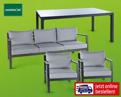 Gardenline Aluminium-Garten-Set 4-teilig
