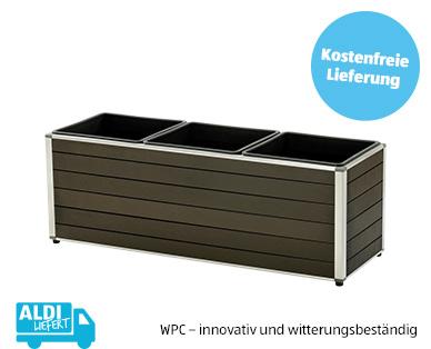 WPC-Balkonkasten und WPC-Blumenkasten im Aldi Süd Angebot ab 2.5.2019