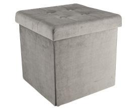 Living Style Sitzbox aus Samt im Angebot bei Aldi Süd 14.5.2020 - KW 20
