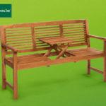 Gardenline Gartenbank mit aufklappbarem Tisch im Angebot » Hofer + Aldi Schweiz 7.5.2020 - KW 19