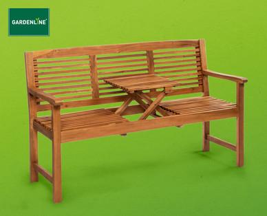 Gardenline Gartenbank mit aufklappbarem Tisch