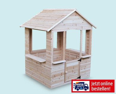 Kinderspielhaus aus Holz im Hofer Angebot ab 23.5.2019