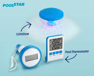 Poolstar Pool-Thermometer und Pool-Lichtshow im Hofer Angebot ab 23.5.2019