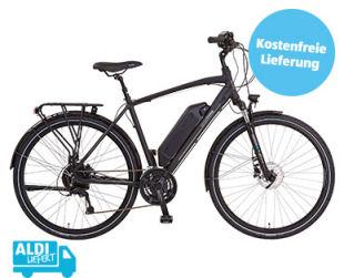 Aldi Süd 16.5.2019: Prophete Damen / Herren Trekking-E-Bike im Angebot