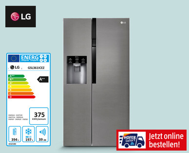 Photo of LG GSL361ICEZ Side-by-Side Kühlschrank im Angebot bei Hofer 4.6.2020 – KW 23