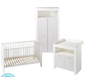 Aldi Liefert | Babyzimmer-Set, Wickelkommode, Kinder-Kleiderschrank und Babybett