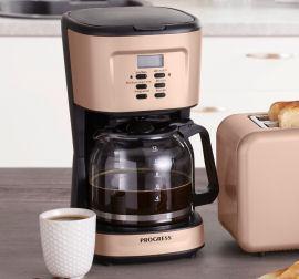 Penny 28.11.2019: Progress Kaffeemaschine Retro Metallic im Angebot