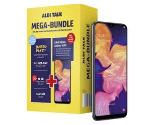Aldi Süd 21.11.2019: Samsung Galaxy A10 Smartphone mit Jahrespaket im Angebot