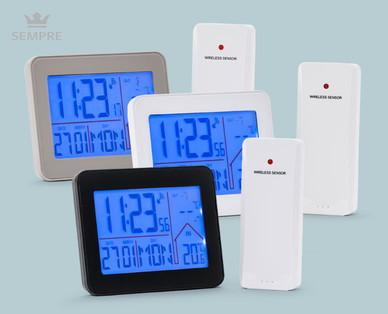 Aldi + Hofer 27.1.2020: Sempre Funkwecker mit Temperaturstation im Angebot