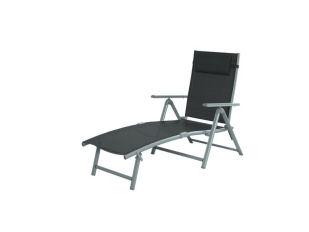 Florabest Liegestuhl Aluminium mit Armlehnen für 49,99€ bei Lidl
