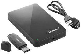 Intenso Externe 2,5-Zoll Festplatte mit USB-Stick