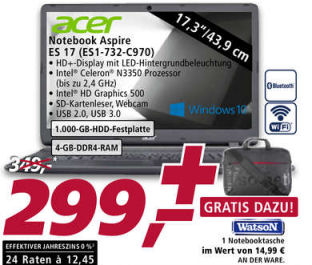 Acer Aspire ES 17 ES1-732-C970 Notebook