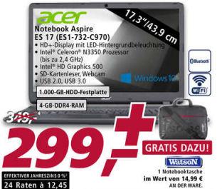Acer Aspire ES 17 ES1-732-C970 Notebook im Angebot » Real 13.1.2020 - KW 3