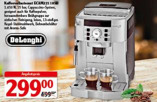 Globus 13.1.2020: DeLonghi ECAM 22110SB Kaffeevollautomat im Angebot