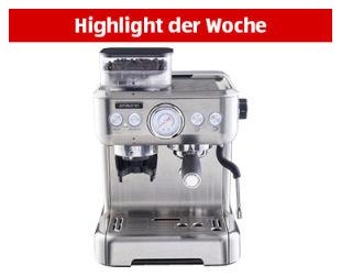 Ambiano Espresso-Maschine mit Mahlwerk