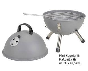BBQ Mini-Kugelgrill und Mini-Klappgrill