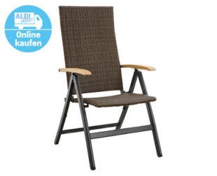 Gardenline Aluminium-Klappsessel 2er-Set Holzoptik im Angebot bei Aldi Süd 20.5.2020 - KW 21