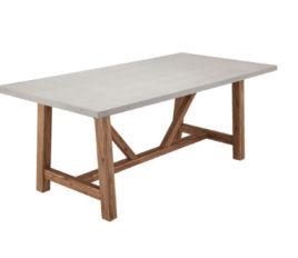 Home Casual Gartentisch in Beton-Optik im Angebot bei Aldi Nord + Aldi Süd 4.5.2020 - KW 19