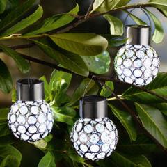 i-Glow LED-Solar-Leuchtkugeln 3er-Set