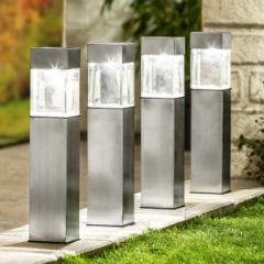 EZ Solar LED-Solar-Gartenlampe 4er-Set