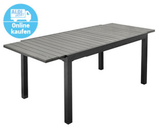 Gardenline Verlängerbarer Gartentisch