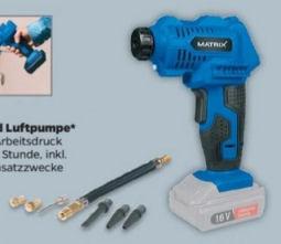 Matrix 16 V Akku-Kompressor und Luftpumpe im Angebot bei Netto 11.5.2020 - KW 20